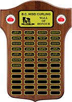 BC Nisei Curling Wall of Honour Plaque