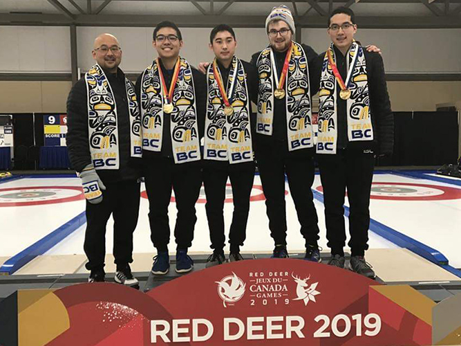 Team Sato Wins Mens at 2019 Canada Games